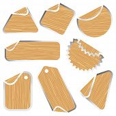 blank wooden sticker collection