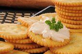 Salmon Cream Cheese On Crackers