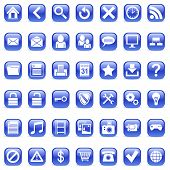 picture of internet icon  - Set of 42 blue icons for Web - JPG