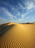 beatiful evening landscape in desert