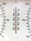 old russian barometer fragment closeup