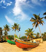 picture of old boat  - old fishing boats on beach  - JPG