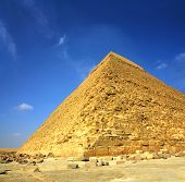 famous ancient egypt Cheops pyramid in Giza Cairo