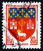 Postage Stamp France 1958 Arms Of Toulouse