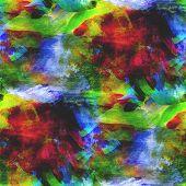 abstract avant-garde green, yellow, blue seamless wallpaper wate