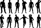 Sexy mannen silhouetten