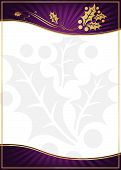 Exotic Purple Holly Adorned Gift Card or Label
