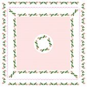 pattern of tablecloth with pink roses