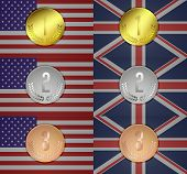 Olympic Medal In The Background