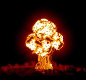 stock photo of day judgement  - Hydrogen bomb exploded - JPG