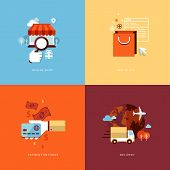 foto of e-business  - Icons for online shop - JPG