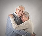 stock photo of grandpa  - Grandpa and Grandma - JPG