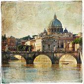 San Pietro basilica. Rome. retro styled picture