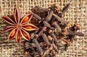Traditional Christmas Spices - Star Anise And Cloves