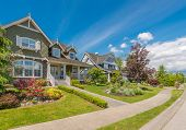 stock photo of nice house  - A perfect neighborhood - JPG