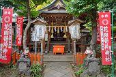 Hanazono Inari Shrine at Ueno Park in Tokyo