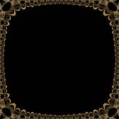 Old Glowing Victorian Seamless Border Pattern
