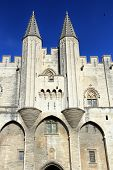 stock photo of avignon  - The Popes Palace in Avignon France UNESCO World Heritage Site Popes Palace square - JPG
