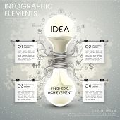 Vector Bulb Hourglass Infographic Elements