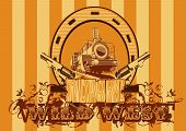 Wild West Poster Striped.eps