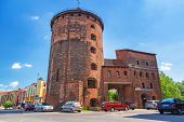 GDANSK, POLAND - 20 MAY: 15th century fortification tower and gate to the old town of Gdansk on 20 M
