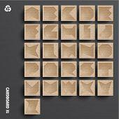 Vector Cardboard Alphabet Set