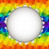triangular rainbow open background