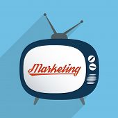 stock photo of mass media  - Concept for advertising industry marketing and mass media - JPG