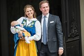 Princess Madeleine Of Sweden With Princess Leonore And Chris Oneill At The Opening Of The Stockholm