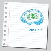 Brain thinking about money