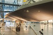 Chantilly- Usa, September, 26: Lockheed Sr-71 Blackbird On Display In National Air And Space Museum