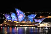 Sydney Opera House Illuminated In Visual Colour Vivid Sydney