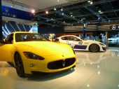 Maserati Luxury cars on display