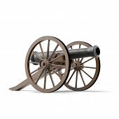 pic of cannon-ball  - black cannon  isolated on a white background - JPG