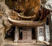 Ancient Buddhist Pagoda Bich Dong. Ninh Binh, Vietnam