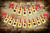 picture of pegging  - Merry Christmas lettering with clothes - JPG