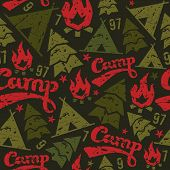 Camping Seamless Patterns
