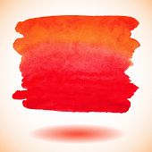 Red vector isolated watercolor paint banner