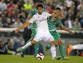 BARCELONA - OCT, 20: Sami Khedira of Real Madrid during the Spanish Kings Cup match against UE Cornella at the Estadi Cornella on October 29, 2014 in Barcelona, Spain