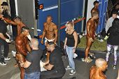 Backstage Scenery Of A Bodybuilding And Fitness Contest
