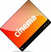 Cinema On Media Player Interface