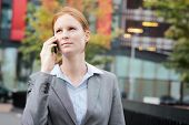 Business Leader Or Employee On The Phone