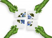 Hand, Ecology Symbol Concept