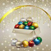 Box Of Christmas Balls
