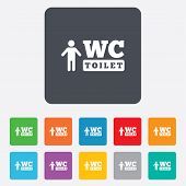 WC men toilet sign icon. Restroom symbol.