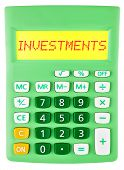 Calculator With Investments On Display