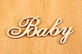 Baby Wooden Words