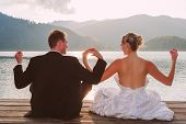 Romantic wedding on the lake