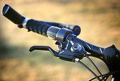 Bike brake grip. Soft photo