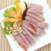 Sour pork,sausage pork and spicy pork, Thai food set
